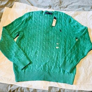 NEW Ralph Lauren Polo Cable Knit Cotten Sweater